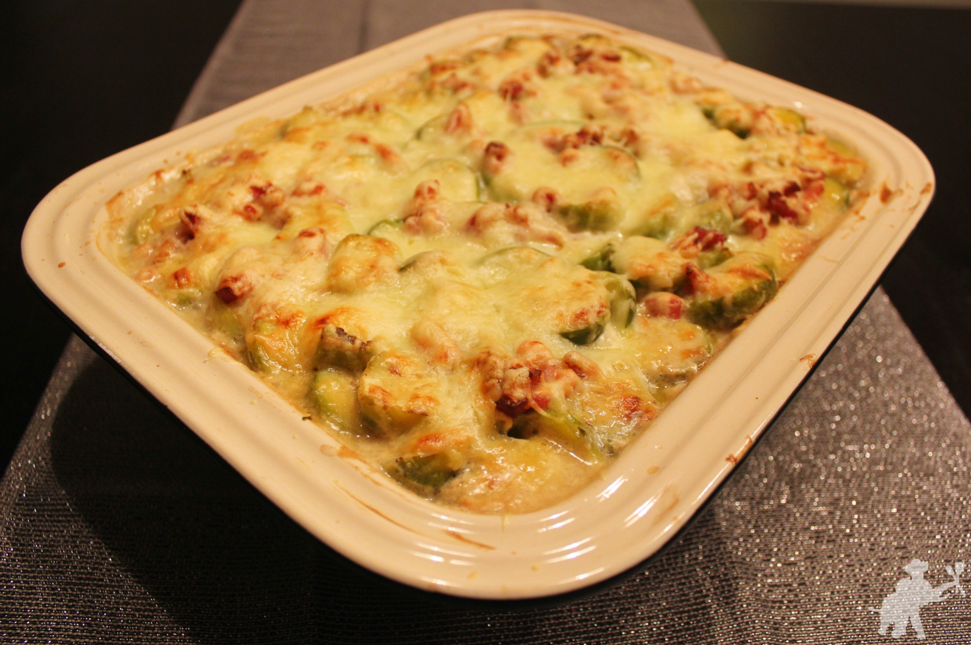 Brussels sprout and potato gratin 3