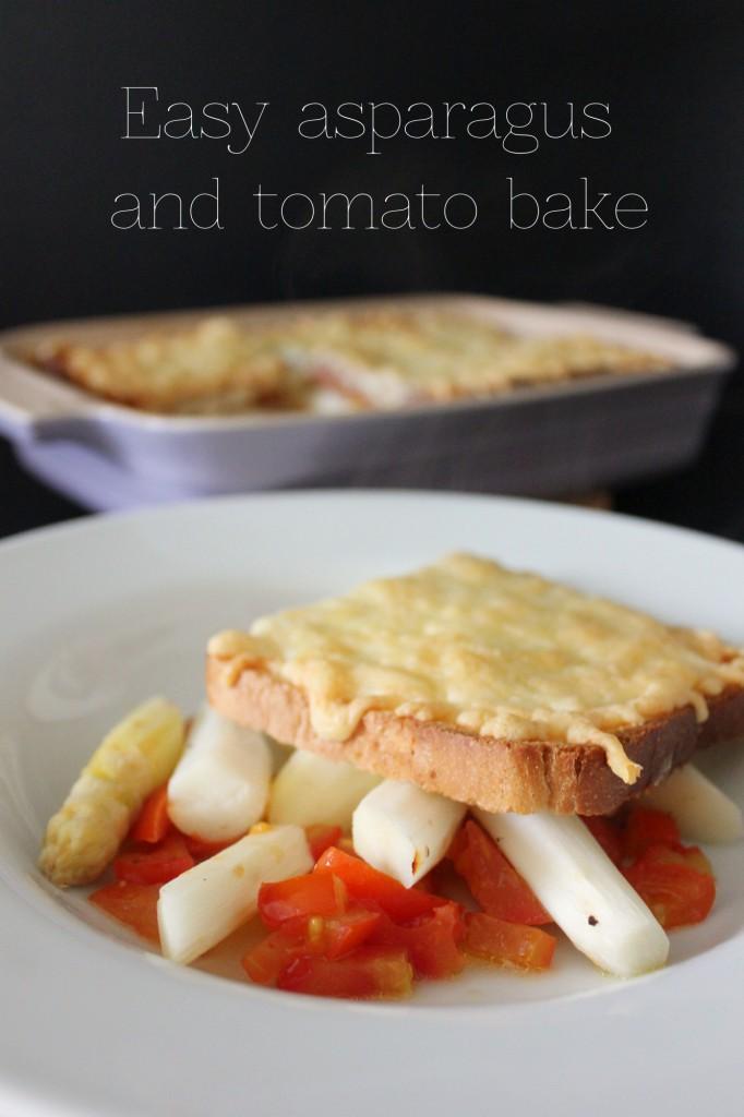 Easy asparagus and tomato bake - Gourmet Elephant