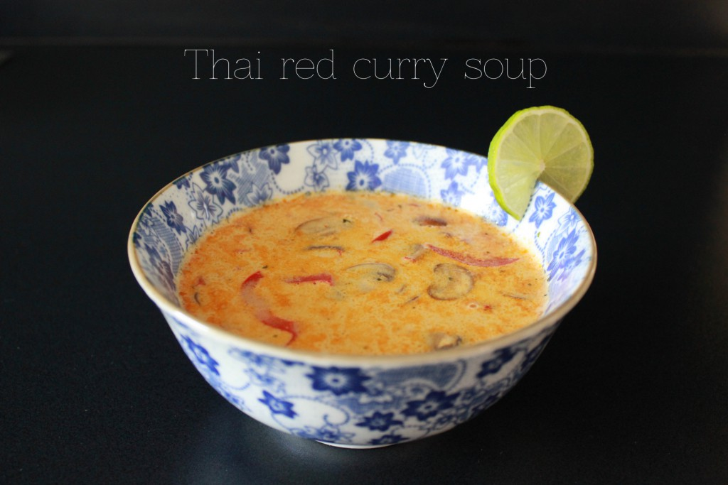 Thai red curry soup - Gourmet Elephant