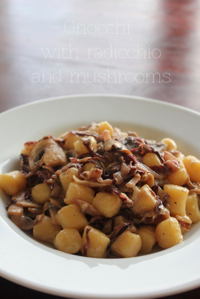 Gnocchi with radicchio and mushrooms - Gourmet Elephant