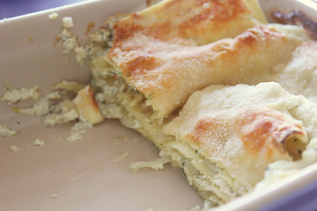 Fennel Lasagna 4Fennel lasagna with ricotta - Gourmet Elephant