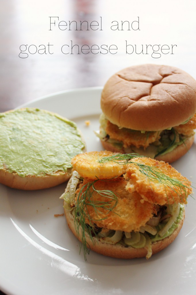 Fennel and goat cheese burger - Gourmet Elephant