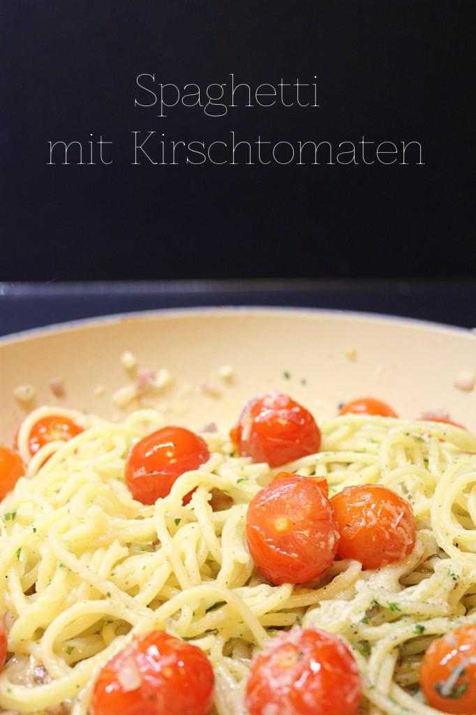 Spaghetti mit Kirschtomaten - Gourmet Elephant